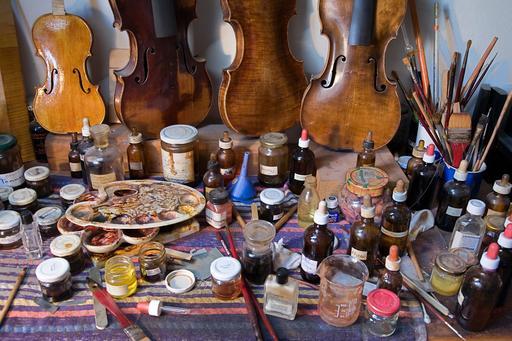 Atelier de réparateur de violons