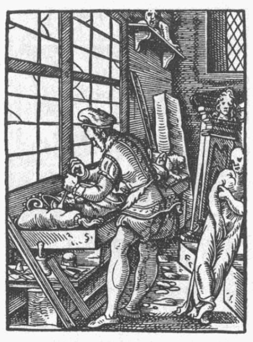 Atelier de sculpteur du XVIème siècle