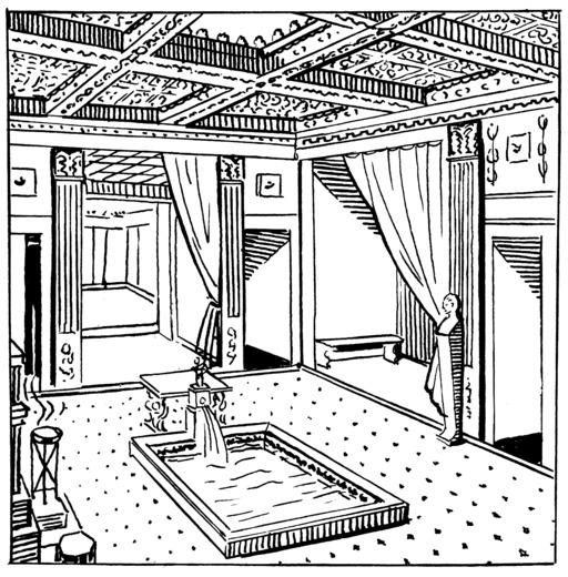 Atrium avec fontaine et bassin