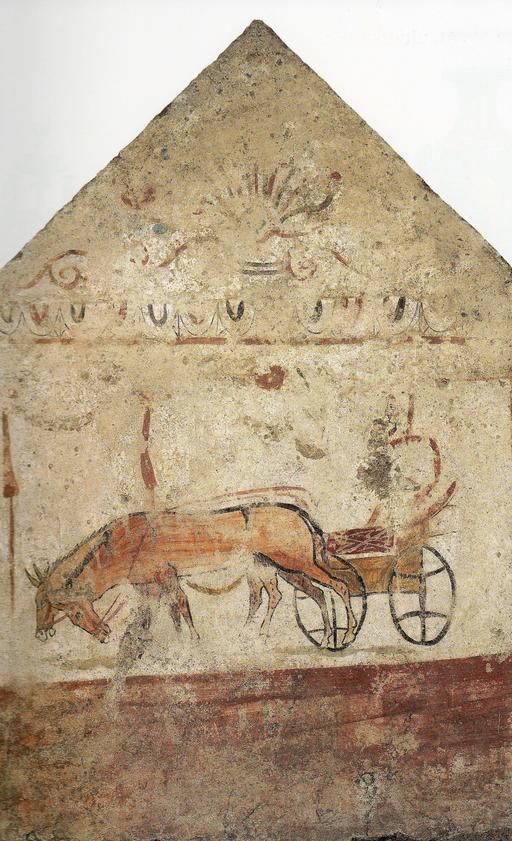 Attelage de mules antique