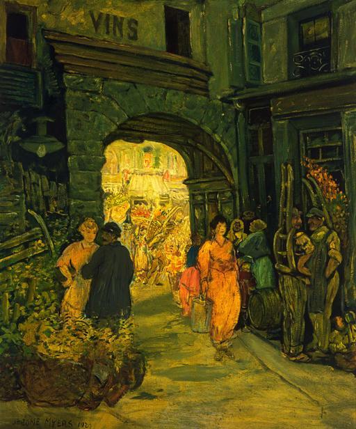 Au marché à Paris en 1920