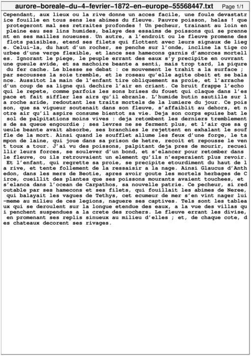 Aurore boréale du 4 février 1872 en Europe
