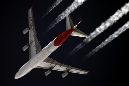 Avion Boeing 747-400 vu de dessous