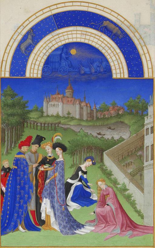 Avril dans les Très Riches Heures du Duc de Berry