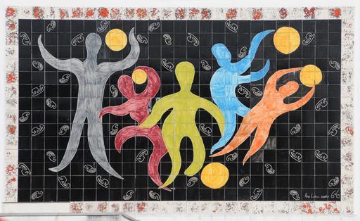 Azulejos des joueurs de ballon