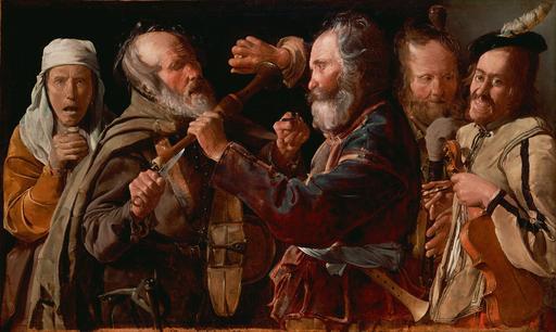 Bagarre de musiciens de rue au dix-septième siècle