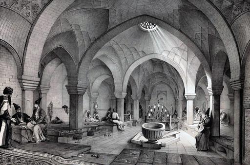 Bains de Khosro Agha à Ispahan