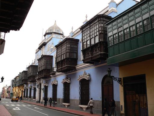 Balcons vitrés au Pérou