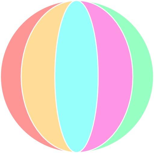 Ballon de plage de toutes les couleurs