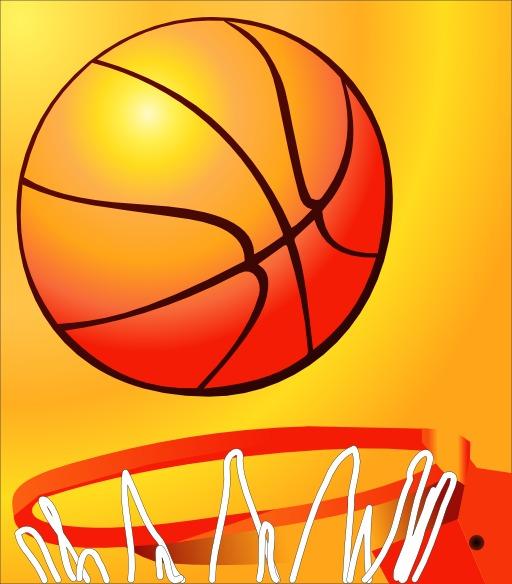 Ballon et filet de basket