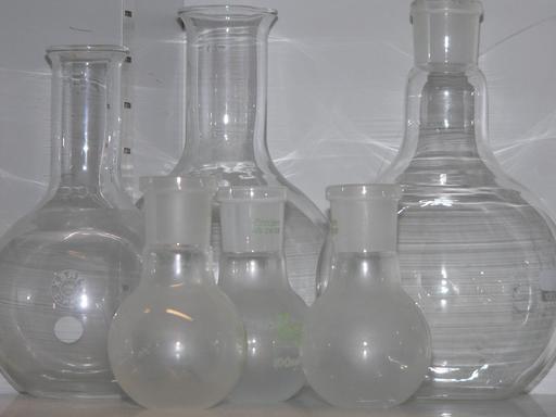 Ballons en verre de laboratoire