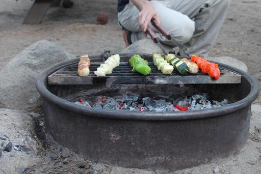 Barbecue de brochettes