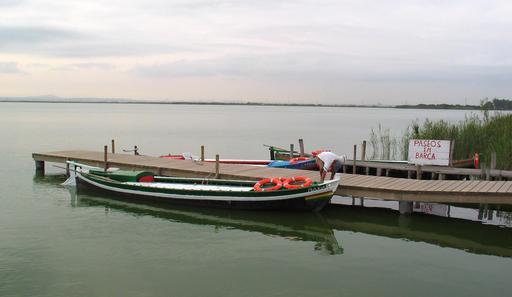 Barque longue d'Albufera près de Valence
