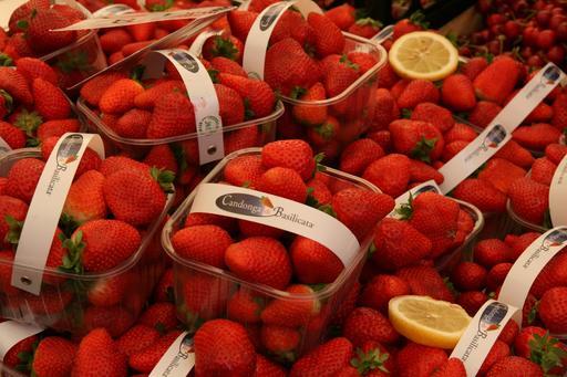Barquettes de fraises en vente