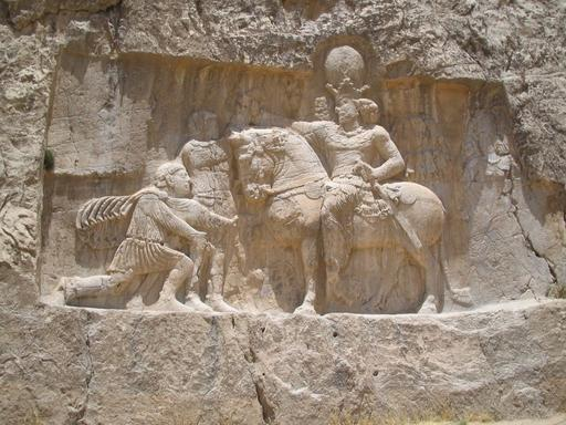 Bas relief nagsh-e-rostam en Iran
