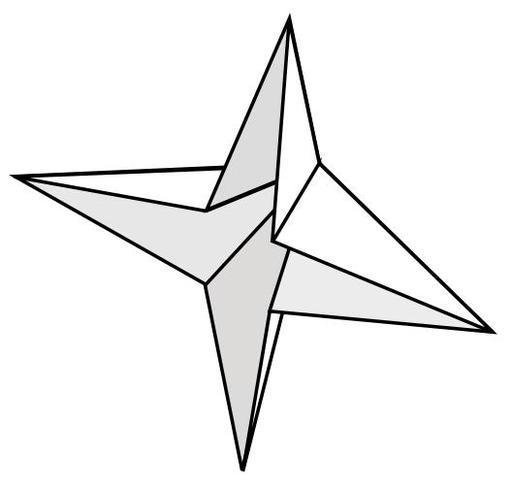 Base de la bombe à eau en origami