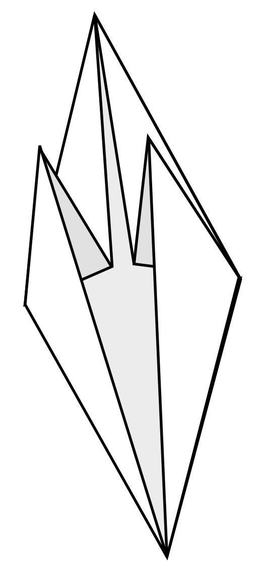 Base du poisson en origami