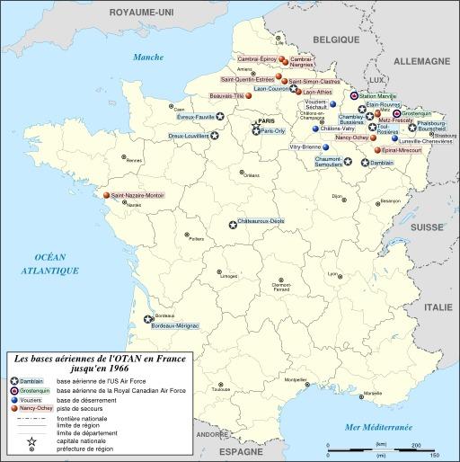 Bases de l'OTAN en France de 1951 à 1966