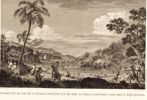 Bataille entre indigènes et marins français dans les îles Samoa en 1797