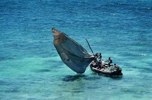 Bateau à voile du Mozambique