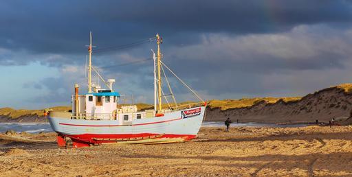 Bateau de pêche au Danemark