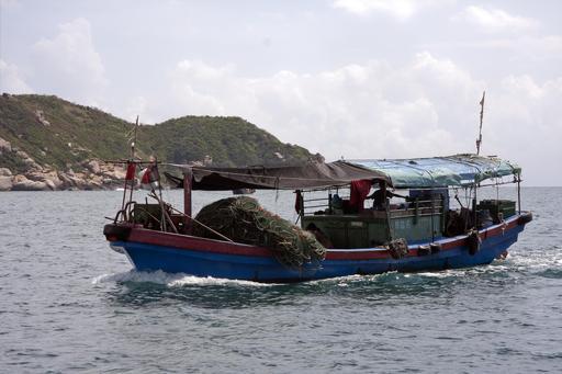 Bateau de pêche chinois