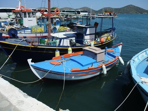 Bateaux de pêche en Crète