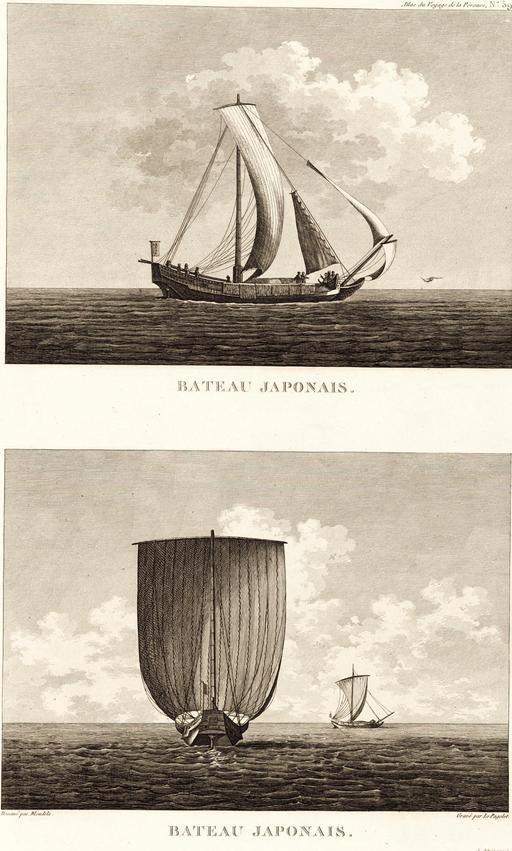 Bateaux japonais en 1797