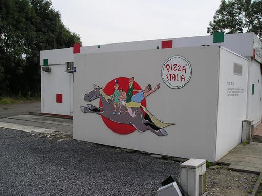 Bayard sur une pizzeria de Termonde
