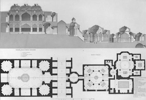 Bazar Adji-Seid-Hussein et bain public, Cachan en 1840