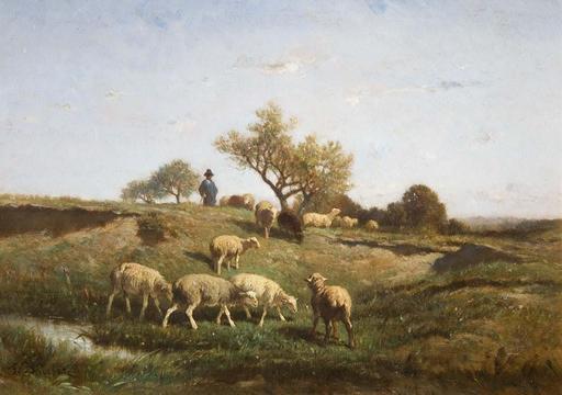 Berger et son troupeau de moutons