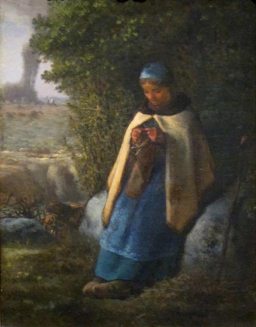 Bergère tricotant