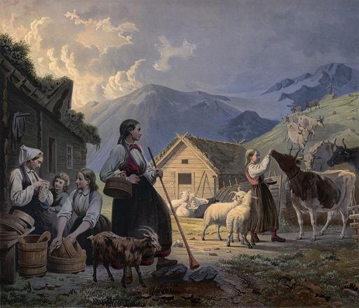 Bergerie en Norvège en 1858