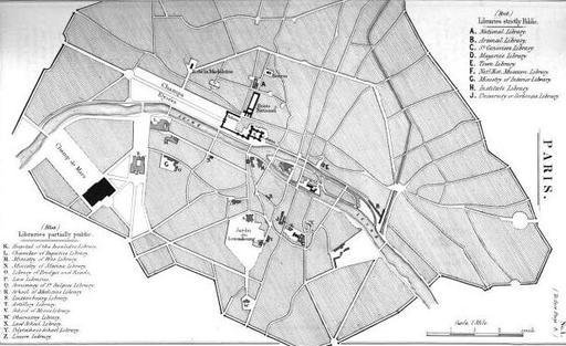 Bibliothèques à Paris en 1849