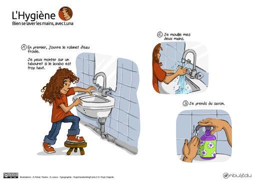 Bien se laver les mains avec Luna (1)