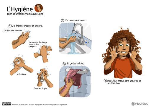 Bien se laver les mains avec Luna (2)
