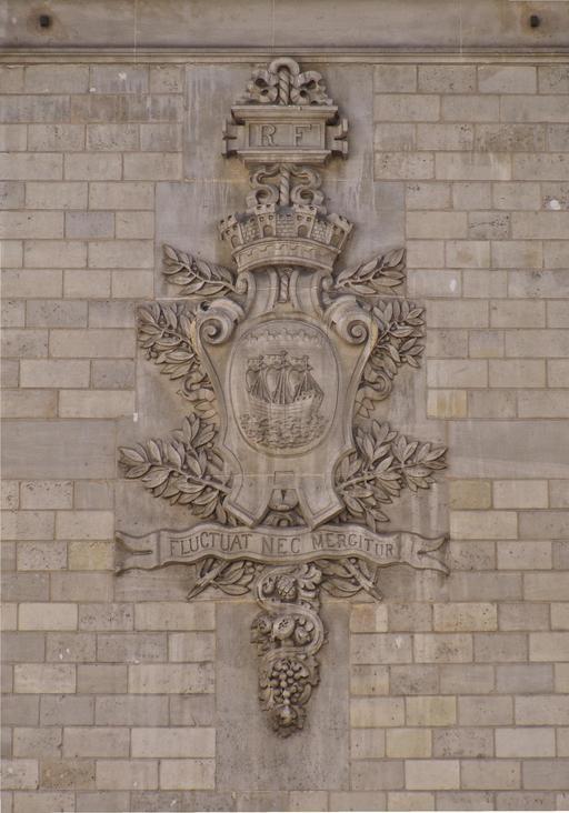 Blason de Paris avec devise en latin