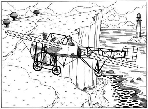Blériot XI en vol