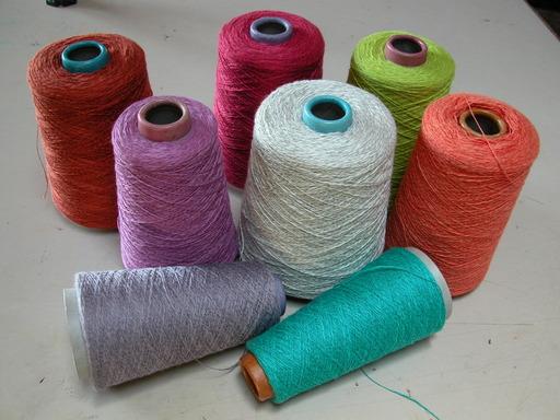 Bobines de fil de lin