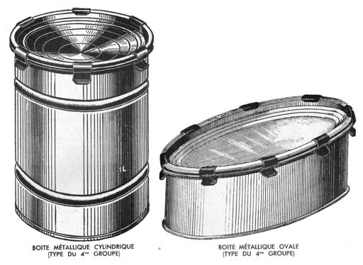 Boites métalliques à agrafes
