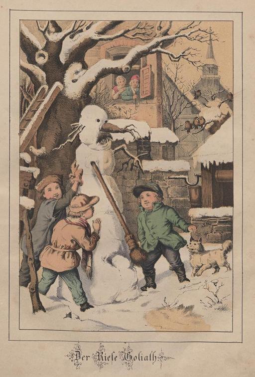 Bonhomme de neige en 1860