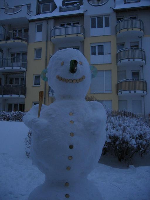 Bonhomme de neige en ville
