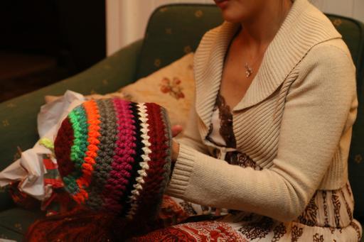 Bonnet de laine fantaisie