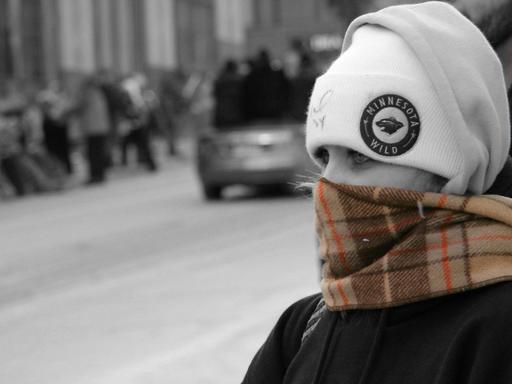 Bonnet et écharpe en hiver