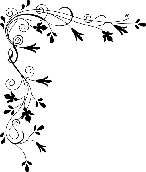 Bordure de fleurs stylisées