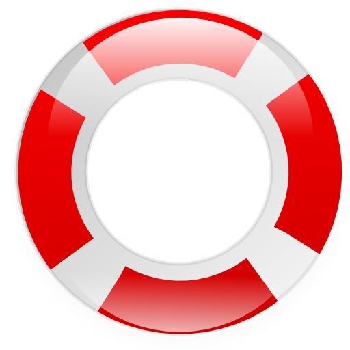 Bouée de sauvetage rouge et blanche