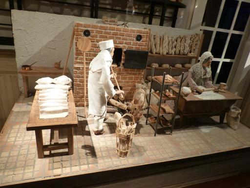 Boulangers au musée des automates