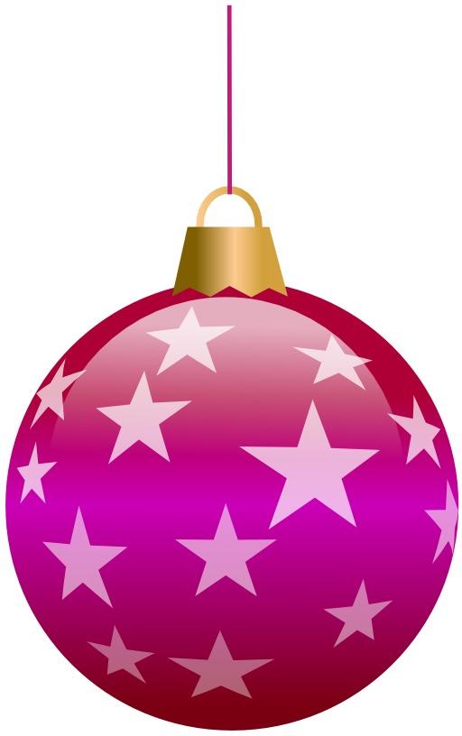 Boule de Noël avec étoiles