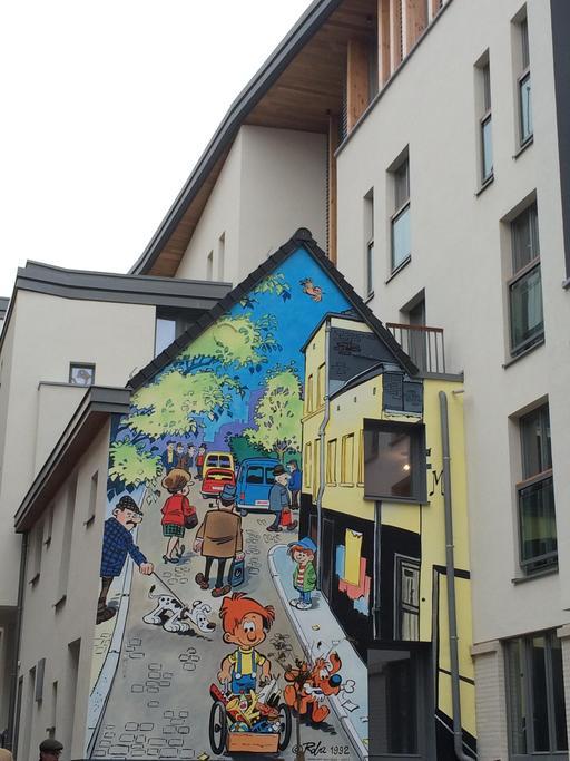 Boule et Bill dans les rues de Bruxelles