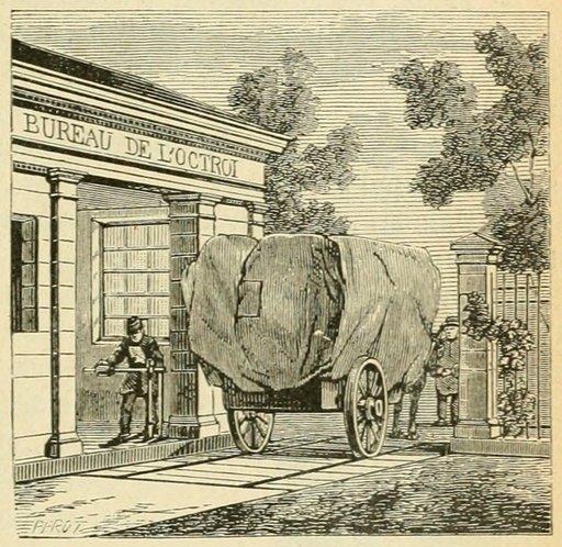 Bureau de l'octroi au XIXème siècle